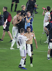 November 1, 2018 - Los Angeles, California, U.S - Carlos Vela #10 of LAFC on the field after losing their MLS playoff game against the Real Salt Lake on Thursday November 1, 2018 at Banc of California Stadium in Los Angeles, California. LAFC lost to Real Salt Lake, 3-2. (Credit Image: © Prensa Internacional via ZUMA Wire)