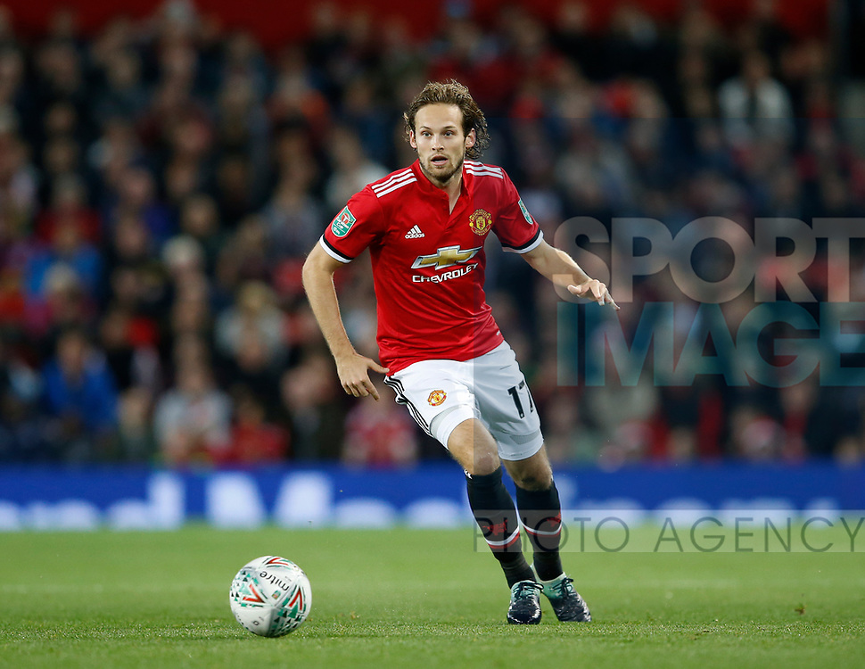duriDaley Blind of Manchester United during the Carabao Cup Third Round match at the Old Trafford Stadium, Manchester. Picture date 20th September 2017. Picture credit should read: Simon Bellis/Sportimage