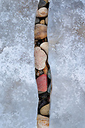 Rock & ice abstract on Montana's Canyon Ferry Lake