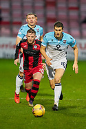 10 Kyle McAllister of St Mirren and 16 Alex Iacovettie during the Scottish Premiership match between Ross County FC and St Mirren FC at the Global Energy Stadium, Dingwall, Scotland on 26 December 2020