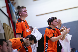 25-10-2019 SLO: Slovenia - Netherlands, Ormoz<br /> Bench of Nederland cheering on their players during friendly handball match between Slovenia and Nederland, on October 25, 2019 in Sportna dvorana Hardek, Ormoz, Slovenia.