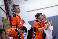 25-10-2019 SLO: Slovenia - Netherlands, Ormoz<br /> Bench of Nederland cheering on their players during friendly handball match between Slovenia and Nederland, on October 25, 2019 in Sportna dvorana Hardek, Ormoz, Slovenia.