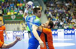 14-04-2019 SLO: Qualification EHF Euro Slovenia - Netherlands, Celje<br /> Nejc Cehte of Slovenia during handball match between National teams of Slovenia and Netherlands in Qualifications of 2020 Men's EHF EURO