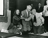 1949 Jeanne Crain's hand/footprint ceremony at the Chinese Theatre