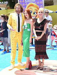 July 23, 2017 - Westwood, California, U.S. - T.J. Miller, Kate Gorney and Anna Faris arrives for the premiere of the film 'The Emoji Movie' at the Regency Village theater. (Credit Image: © Lisa O'Connor via ZUMA Wire)