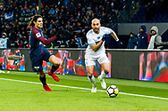 Edinsom Cavani (psg) and Aymen Abdennour (om) during the French Cup football match between Paris Saint-Germain and Marseille on February 28, 2018 at Parc des Princes Stadium in Paris, France - Photo Pierre Charlier / ProSportsImages / DPPI