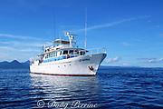 live-aboard dive boat MV Febrina, Kimbe Bay, New Britain, Papua New Guinea ( Pacific )