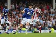 Gareth Barry of Everton under pressure from Gianelli Imbula of Stoke City. Premier league match, Everton v Stoke city at Goodison Park in Liverpool, Merseyside on Saturday 27th August 2016.<br /> pic by Chris Stading, Andrew Orchard sports photography.