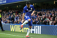 Pedro of Chelsea celebrates after scoring his sides 1st goal. The Emirates FA cup, 3rd round match, Chelsea v Peterborough Utd at Stamford Bridge in London on Sunday 8th January 2017.<br /> pic by John Patrick Fletcher, Andrew Orchard sports photography.