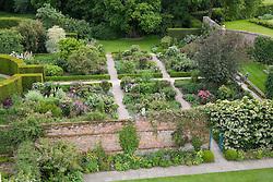 View of the Rose Garden from the Tower at Sissinghurst Castle Garden
