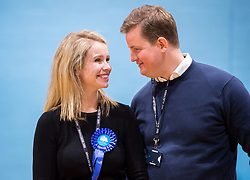 © Licensed to London News Pictures. 13/12/2019. Stroud, Gloucestershire, UK. General Election 2019; SIOBHAN BAILLIE, Conservative candidate, wins the election for the Stroud constituency from Labour's David Drew. At the last parliamentary election in 2017 the winning majority for the Labour candidate David Drew was 687. Photo credit: Simon Chapman/LNP.