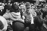 Close up of Charles de Gaulle meeting french citizens in London during his State visit in 1960.<br /> Note for photographers: General de Gaulle was a bit vain and did not wear his glasses in public. His security guard had a formal order to photographers to shake hands with him,whenever offered.I must have done so at least 5 or 6 times during my encounters with the General.<br /> <br /> Gros plan de Charles de Gaulle durant sa rencontre avec les citoyens français à Londres lors de sa visite d' Etat en 1960 .<br /> Remarque pour les photographes : le général de Gaulle était un peu vain et ne portait pas ses lunettes en public et ne voulait pas etre photographier avec. Son chef de sécurité avait l'ordre formel aux photographes de lui serrer la main si offert. J'ai du lui serrer la main  au moins 5 ou 6 fois au cours de mes rencontres avec le général.