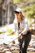 Diana Abbott '18, Fly fishing guide, Yellowstone National Park. Colby-Sawyer College Alumni Magazine, Internships.