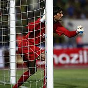 S.B. Elazigspor's goal keeper Vanja ivesa during their Turkish superleague soccer match S.B. Elazigspor between Fenerbahce at the Ataturk stadium in izmir Turkey on Saturday 18 August 2012. Photo by TURKPIX