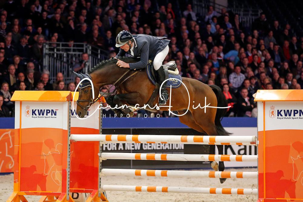 Maarse Dave (NED) - Envoy<br /> KWPN Stallion Selection - 's Hertogenbosch 2014<br /> © Dirk Caremans