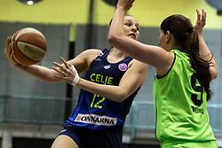 Zala Friškovec of Cinkarna Celje during the basketball match between Akson Ilirija and Cinkarna Celje in Final Round of Pokal Članic 2018/19, on March 10, 2019 in Dvorana Tabor, Maribor, Slovenia. Photo by Blaž Weindorfer / Sportida