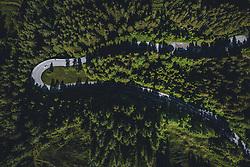 THEMENBILD - ein Auto fährt in einer Kehre auf der Strasse umgeben von Wald. Die Hochalpenstrasse verbindet die beiden Bundeslaender Salzburg und Kaernten und ist als Erlebnisstrasse vorrangig von touristischer Bedeutung, aufgenommen am 11. Juni 2020 in Fusch a.d. Glstr., Österreich // a car drives in a turn on the road surrounded by forest. The High Alpine Road connects the two provinces of Salzburg and Carinthia and is as an adventure road priority of tourist interest, Fusch a.d. Glstr., Austria on 2020/06/11. EXPA Pictures © 2020, PhotoCredit: EXPA/ JFK