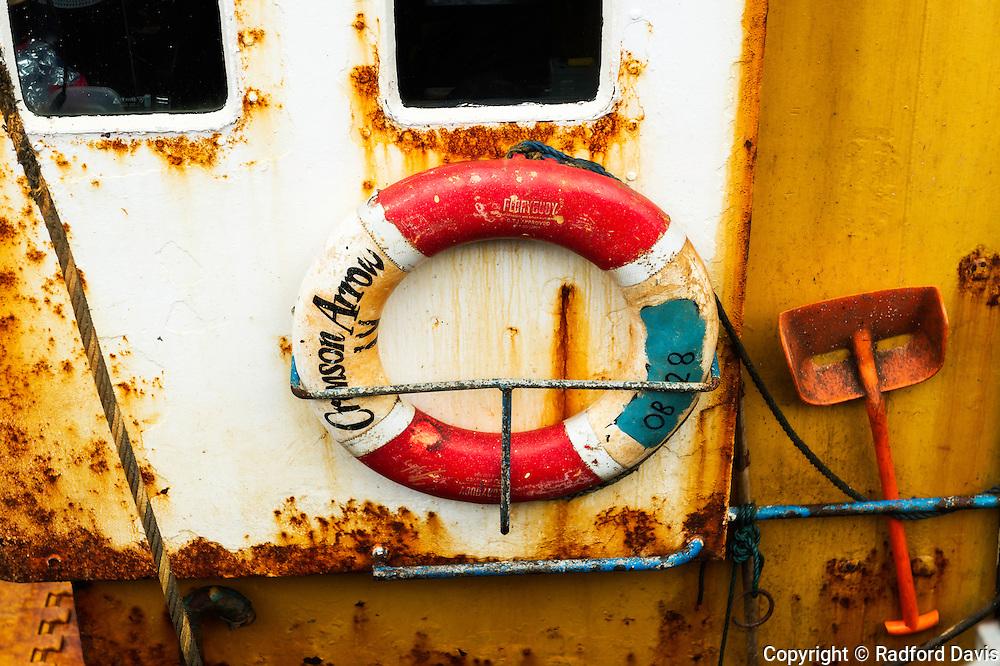 Boat in the harbor of Oban, Scotland