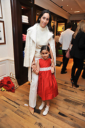 Sharky & George and the RL Gang hosted a pre-Easter Holiday party in support of CLIC Sargent at the Ralph Lauren Children's store, 139/141 Fulham Road, London SW3 on 23rd March 2011.<br /> Image shows:- STEFANIA RENAUD and her daughter ISABELLA RENAUD.
