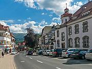 Szklarska Poręba (woj. dolnośląskie), 22.07.2013. Centrum miasta.