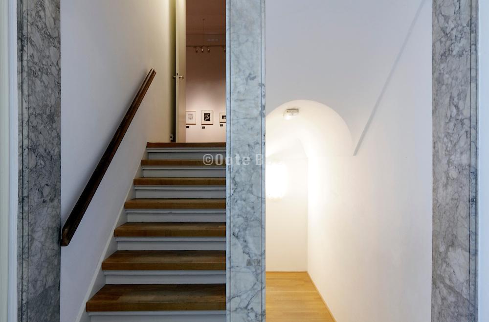 geometric stairwell inside Foam museum Amsterdam