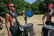 Shadow Drum and Bugle Corps practice in Michigan City, Indiana on August 10, 2016. <br /> <br /> Beth Skogen Photography - www.bethskogen.com