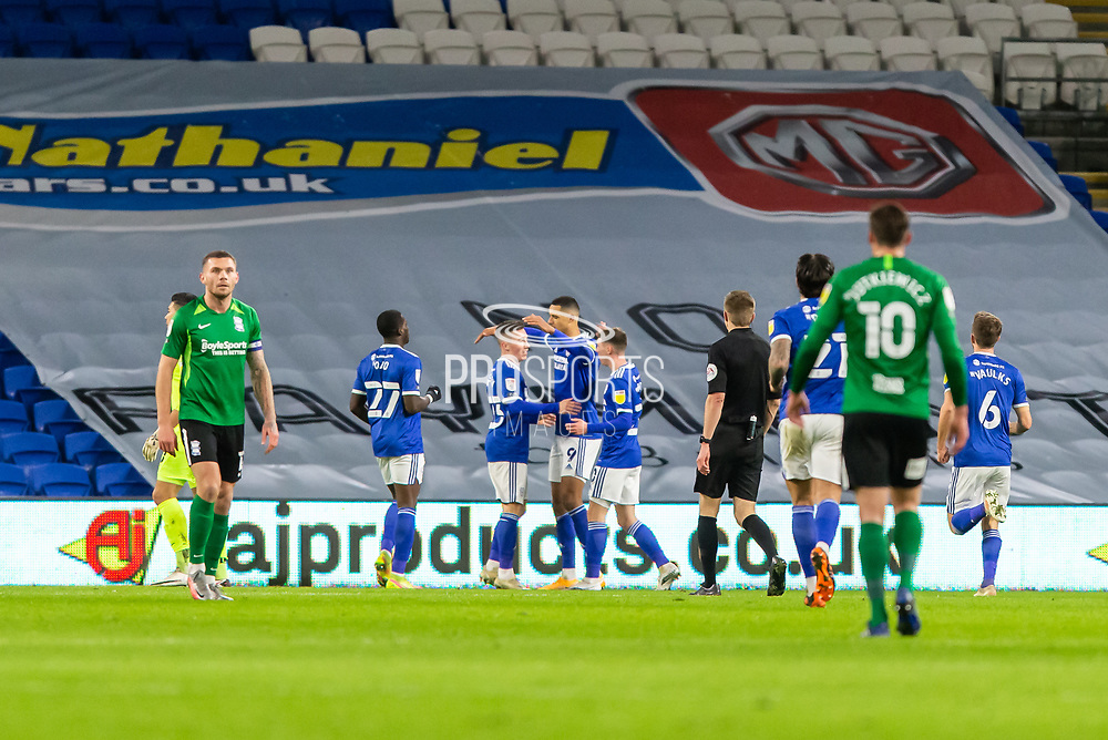 *** during the EFL Sky Bet Championship match between Cardiff City and Birmingham City at the Cardiff City Stadium, Cardiff, Wales on 16 December 2020.
