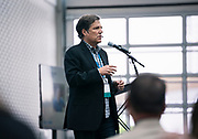 Jeff Rusinow from Silicon Pastures at the Wisconsin Entrepreneurship Conference at Venue 42 in Milwaukee, Wisconsin, Tuesday, June 4, 2019.