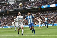 Real Madrid's Isco Alarcon (l) and Malaga CF's Chory Castro during La Liga match. November 25,2017. (ALTERPHOTOS/Villa)