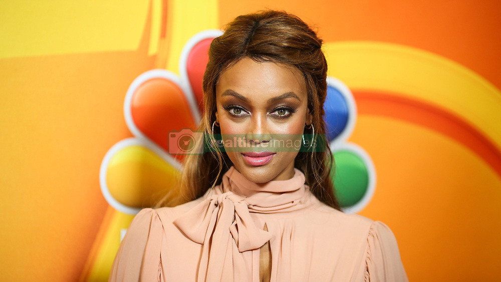 Tyra Banks wearing Zeena Zaki arrives at the 2017 NBC Summer TCA Press Tour held at The Beverly Hilton Hotel on August 3, 2017 in Beverly Hills, California. 03 Aug 2017 Pictured: Tyra Banks. Photo credit: IPA/MEGA TheMegaAgency.com +1 888 505 6342