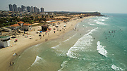 Aerial Photography of the Coastline of Hadera, Israel