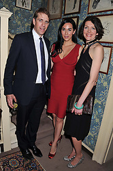 Left to right, BEN ELLIOT, ALEXANDRA MEYERS and THOMASINA MIERS at a dinner hosted by Edward Taylor and Alexandra Meyers in association with Johnnie Walker Blue Label held at Mark's Club, 46 Charles Street, London W1 on 26th April 2012.