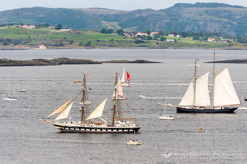 Norway, Randaberg. Tall Ships Race in Stavanger 2011. Goodbye, fare thee well! Wylde Swan and Stavros S Niarchos.