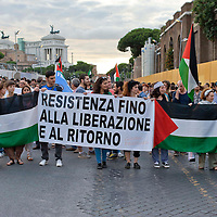 Manifestazione in  solidarietà al  popolo palestinese