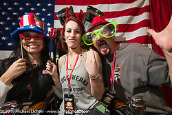 The Klock family at the 20th Anniversary party for the Destination Harley-Davidson dealership in Ormond Beach, FL during Daytona Bike Week. FL, USA. March 10, 2014.  Photography ©2014 Michael Lichter.