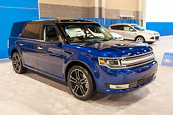 CHARLOTTE, NC, USA - November 11, 2015: Ford Flex on display during the 2015 Charlotte International Auto Show at the Charlotte Convention Center in downtown Charlotte.