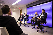 Northwestern University's Kellogg School of Management hosts their SF Imersion Fintech Panel discussion in San Francisco, California, on January 23, 2019. (Stan Olszewski/SOSKIphoto)