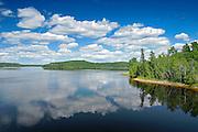 CLouds reflected in Kenogamisis Lake<br /> Geraldton<br /> Ontario<br /> Canada