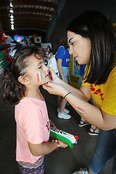 STAND DHL<br /> ITALIA - KOREA<br /> PALLAVOLO VNL VOLLEY PERUGIA <br /> PERUGIA 12-06-2019<br /> FOTO GALBIATI - RUBIN