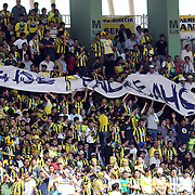 Fenerbahce's supporters during their Turkey Cup final match Trabzonspor between Fenerbahce at the GAP Arena Stadium at Urfa Turkey on wednesday, 05 May 2010. Photo by TURKPIX