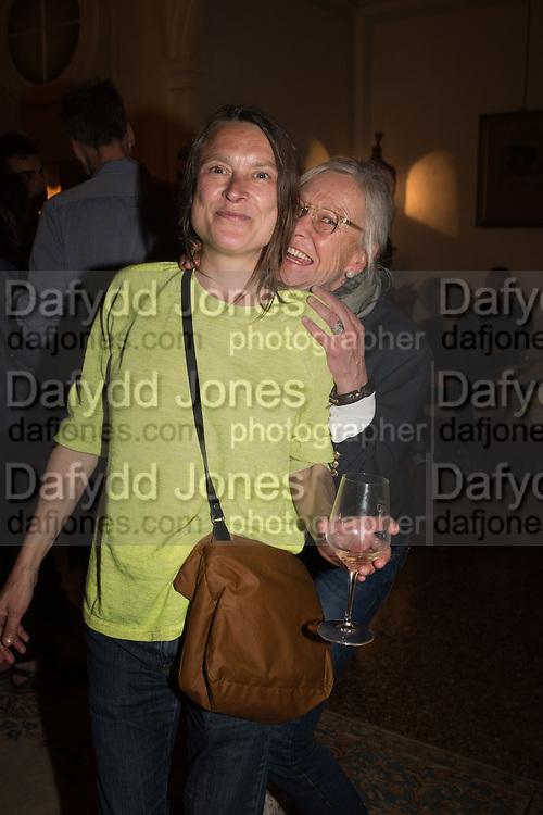 SARAH LUCAS;; SABINA DUMONT;   Sarah Lucas- Scream Daddio party hosted by Sadie Coles HQ and Gladstone Gallery at Palazzo Zeno. Venice. 6 May 2015.