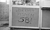 07.1981 Gdansk N/z napisy na murach fot Michal Kosc / AGENCJA WSCHOD