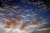 25 June 2006: Sunset in the sky with colorful clouds. Graphic, art, scenic, spiritual, book, gift.