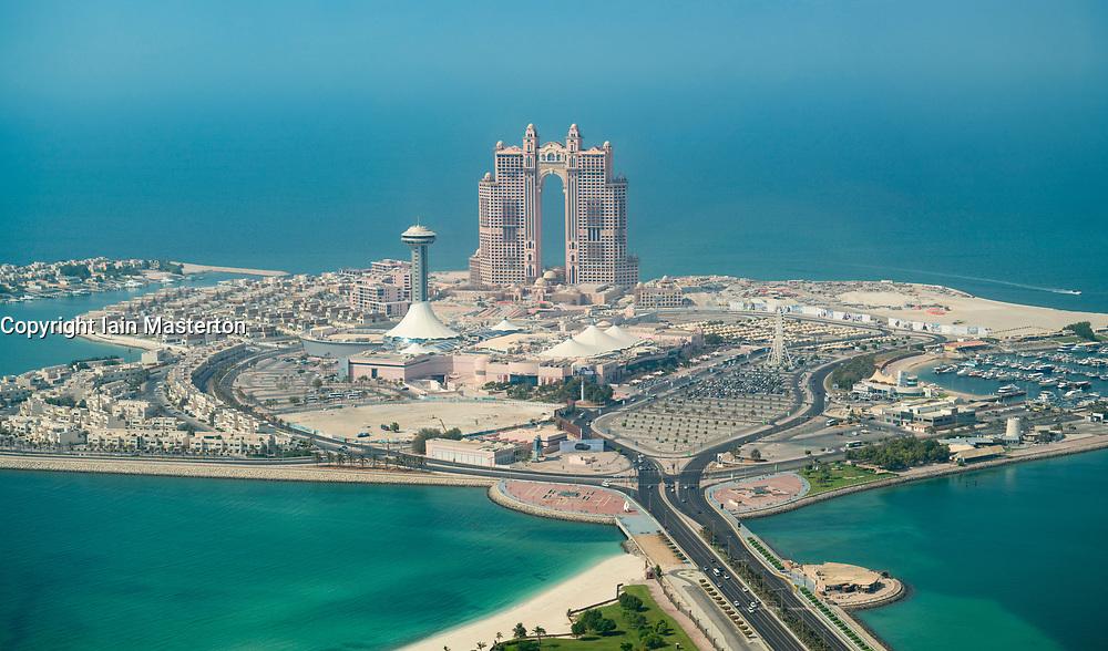 View of Al Kasir Island and the Marina Mall  in Abu Dhabi , UAE, United Arab Emirates