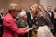 DAME NORMA MAJOR; TARA PALMER-TOMPKINSON, 80th anniversary gala dinner for the FoylesÕ Literary Lunch. Ballroom. Grosvenor House Hotel. Park Lane. London. 21 October 2010. -DO NOT ARCHIVE-© Copyright Photograph by Dafydd Jones. 248 Clapham Rd. London SW9 0PZ. Tel 0207 820 0771. www.dafjones.com.<br />