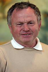 Stanko Topolcnik, bron medal at European Championship in Belgium in 1969 at the arrival  from European Championship in Lisbon (11th april 2008 - 13th april 2008),  on April 14, 2008 in Ljubljana, Slovenia. (Photo by Vid Ponikvar / Sportal Images)/ Sportida)