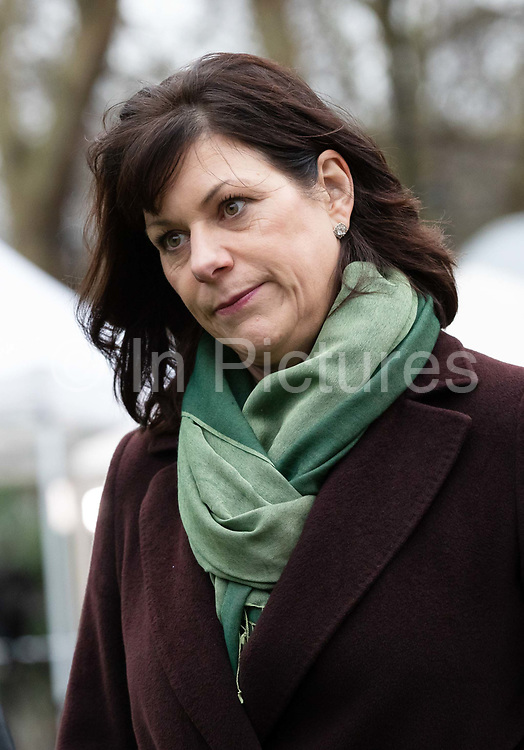 Claire Perry MP, Minister of State for Energy and Clean Growth speaks during a television interview about Brexit outside the Houses of Parliament in London,, UK on January 15, 2019