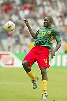 FOTBALL - CONFEDERATIONS CUP 2003 - GROUP B - KAMERUN V TYRKIA - 030621 - MARC VIVIEN FOE (CAM) - PHOTO STEPHANE MANTEY / DIGITALSPORT