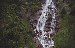 THEMENBILD - ein Wasserfall in der Berglandschaft, aufgenommen am 28. Juli 2019 in Fusch a. d. Grossglocknerstrasse, Oesterreich // a waterfall in the mountain landscape in Fusch a. d. Grossglocknerstrasse, Austria on 2019/07/28. EXPA Pictures © 2019, PhotoCredit: EXPA/ JFK