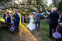 Matthew Moyer and Alisha Blatter marriage at Gold Hill Gardens in Newcastle, Saturday, October 12, 2019.<br /> Photo Brian Baer